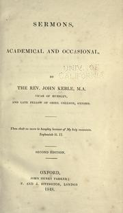 Cover of: Sermons, academical and occasional