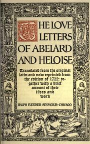 The love letters of Abelard and Heloise (1903 edition) | Open Library