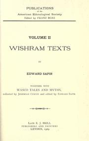 Cover of: Wishram texts