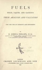 Cover of: Fuels, solid, liquid, and gaseous: their analysis and valuation.