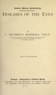 Cover of: Diseases of the eyes