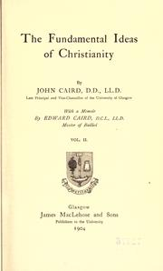 Cover of: The fundamental ideas of Christianity