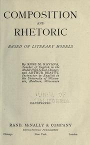 Cover of: Composition and rhetoric based on literary models