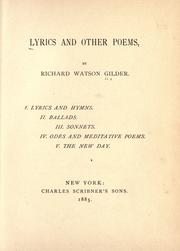 Cover of: Lyrics and other poems