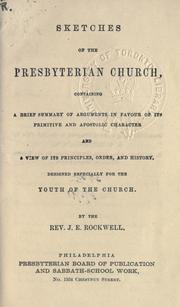 Cover of: Sketches of the Presbyterian Church