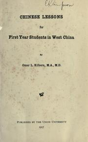 Cover of: Chinese lessons for first year students in West China