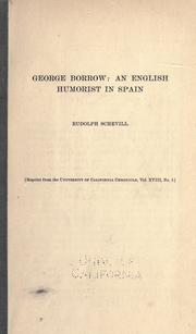 Cover of: George Borrow