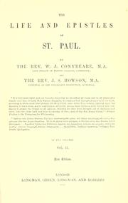 Cover of: The life and epistles of St. Paul