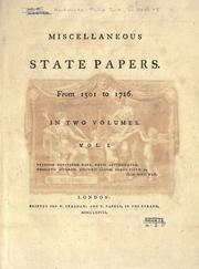 Cover of: Miscellaneous state papers