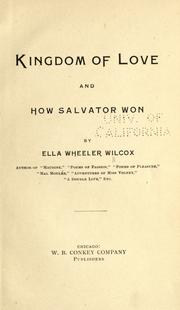 Cover of: The Kingdom of Love: and, How Salvator won