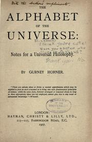 Cover of: The alphabet of the universe
