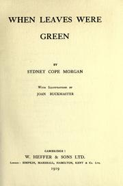 Cover of: When leaves were green