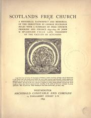 Cover of: Scotland's Free church