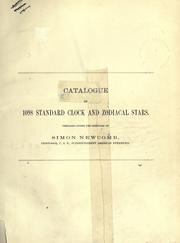 Cover of: Catalogue of 1098 standard clock and zodiacal stars
