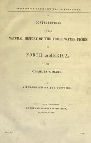 Cover of: Contributions to the natural history of the fresh water fishes of North America