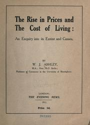 Cover of: The rise in prices and the cost of living