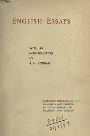 Cover of: English essays