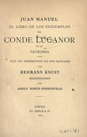 El libro de los enxiemplos del conde Lucanor et de