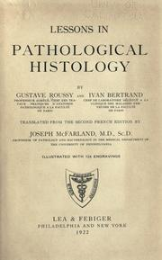 Cover of: Lessons in pathological histology