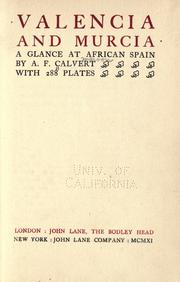 Cover of: Valencia and Murcia: a glance at African Spain