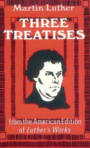 Cover of: Three treatises