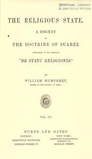 Cover of: The religious state