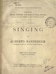 Cover of: Singing