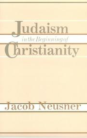 Cover of: Judaism in the beginning of Christianity