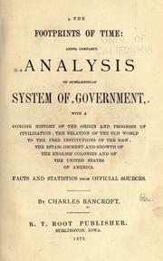 Cover of: The footprints of time, and a complete analysis of our American system of government
