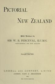 Cover of: Pictorial New Zealand by [by E.E. Morris and others] With preface by W.B. Perceval. Illustrated.
