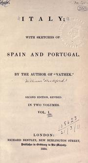 Cover of: Italy: with sketches of Spain and Portugal