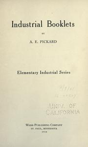 Cover of: Industrial booklets