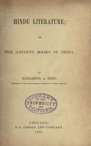 Cover of: Hindu Literature Or The Ancient Books Of India