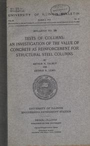 Cover of: Tests of columns