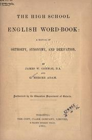 Cover of: The high school English word-book