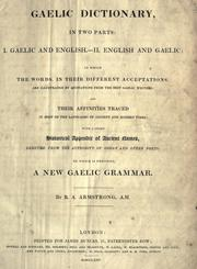Cover of: A Gaelic dictionary, in two parts