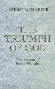 Cover of: The triumph of God | Johan Christiaan Beker