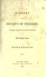 Cover of: A history of the Society of Friends
