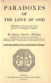 Cover of: Paradoxes of the love of God