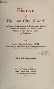 Cover of: Bismya, or the lost city of Adab