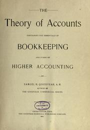 Cover of: The theory of accounts
