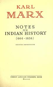 Cover of: Notes on Indian history (664-1858)