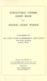 Cover of: Structural timber hand book on Pacific coast woods