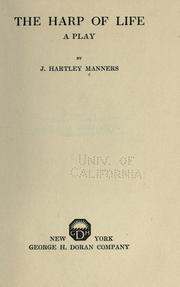 Cover of: The harp of life | John Hartley Manners