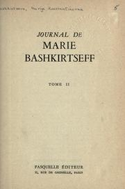 Cover of: Journal de Marie Bashkirtseff