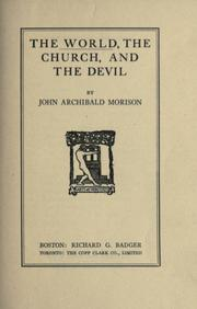 Cover of: The world, the church, and the devil