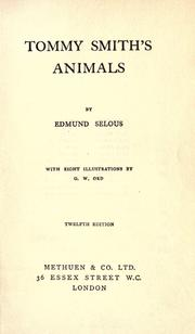 Cover of: Tommy Smith's animals