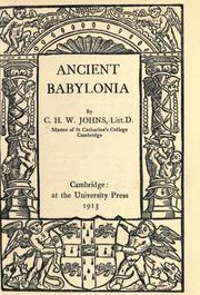 Cover of: Ancient Babylonia