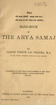 Hand-book of the Arya Samaj by Vishun Lal Sharma