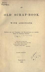 Cover of: An old scrap-book